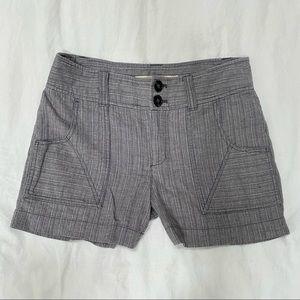 Anthropologie metallic gray linen blend shorts